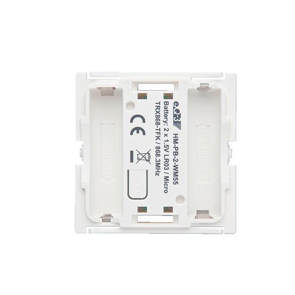 ELV Homematic Komplettbausatz 2fach-Funk-Wandsender HMPB-2-WM55, für Smart Home / Hausautomation
