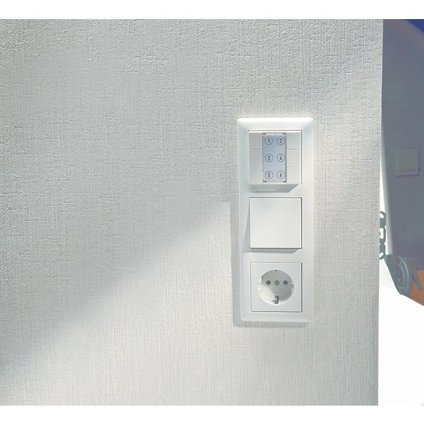 ELV Homematic Komplettbausatz 6-Tasten-Wandsender HM-PB-6-WM55, für Smart Home / Hausautomation