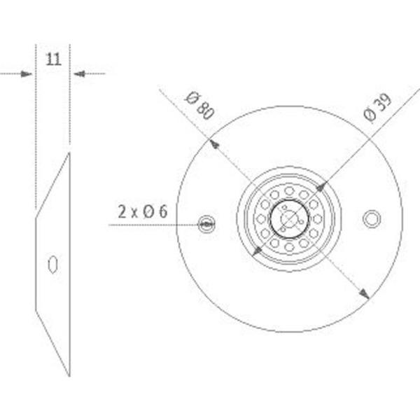 ledxon PatchLED, 1 W, 12 V DC, IP65, Warmweiß