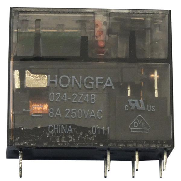 HONGFA Relais, 24 V, 2 Öffner-Schließer, HF115FP-024-2Z4B