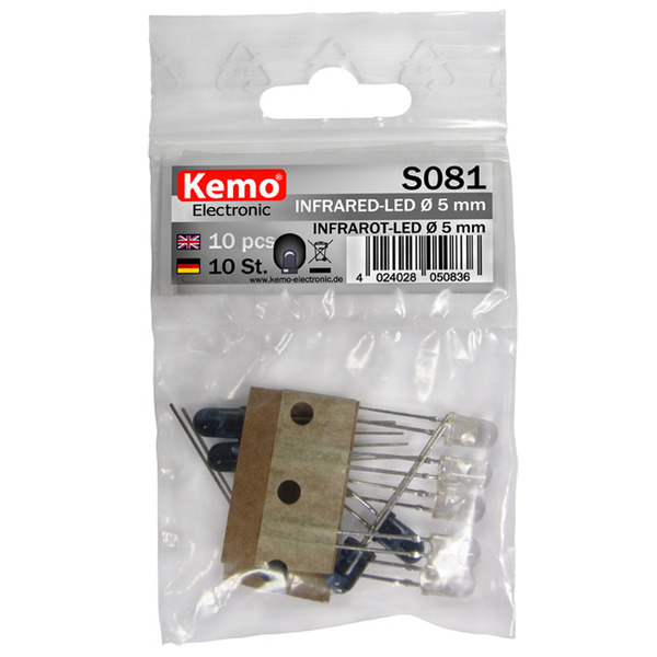 Kemo Infrarot-LED Ø 5 mm ca. 10 Stück S081