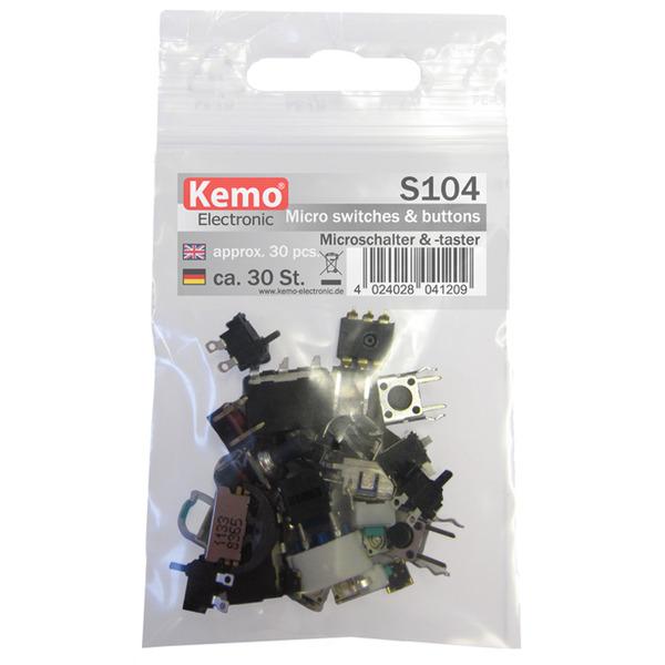Kemo Mikroschalter und -taster ca. 30 Stück S104