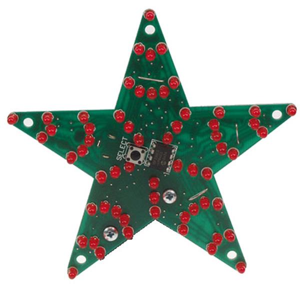 Velleman Bausatz MK170 Multi-Effekt-Stern mit 60 LEDs