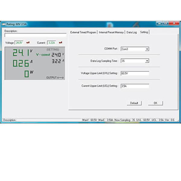 Manson Laborschaltnetzteil HCS-3202 (1-36 V/0-10 A) mit USB-Schnittstelle, programmierbar