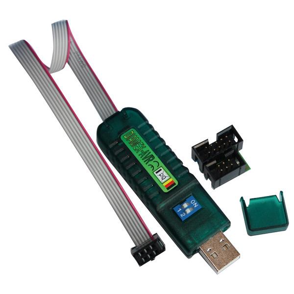Diamex USB-ISP-Programmer inkl. 6 auf 10 Adapter und 10-poliges Flachbandkabel