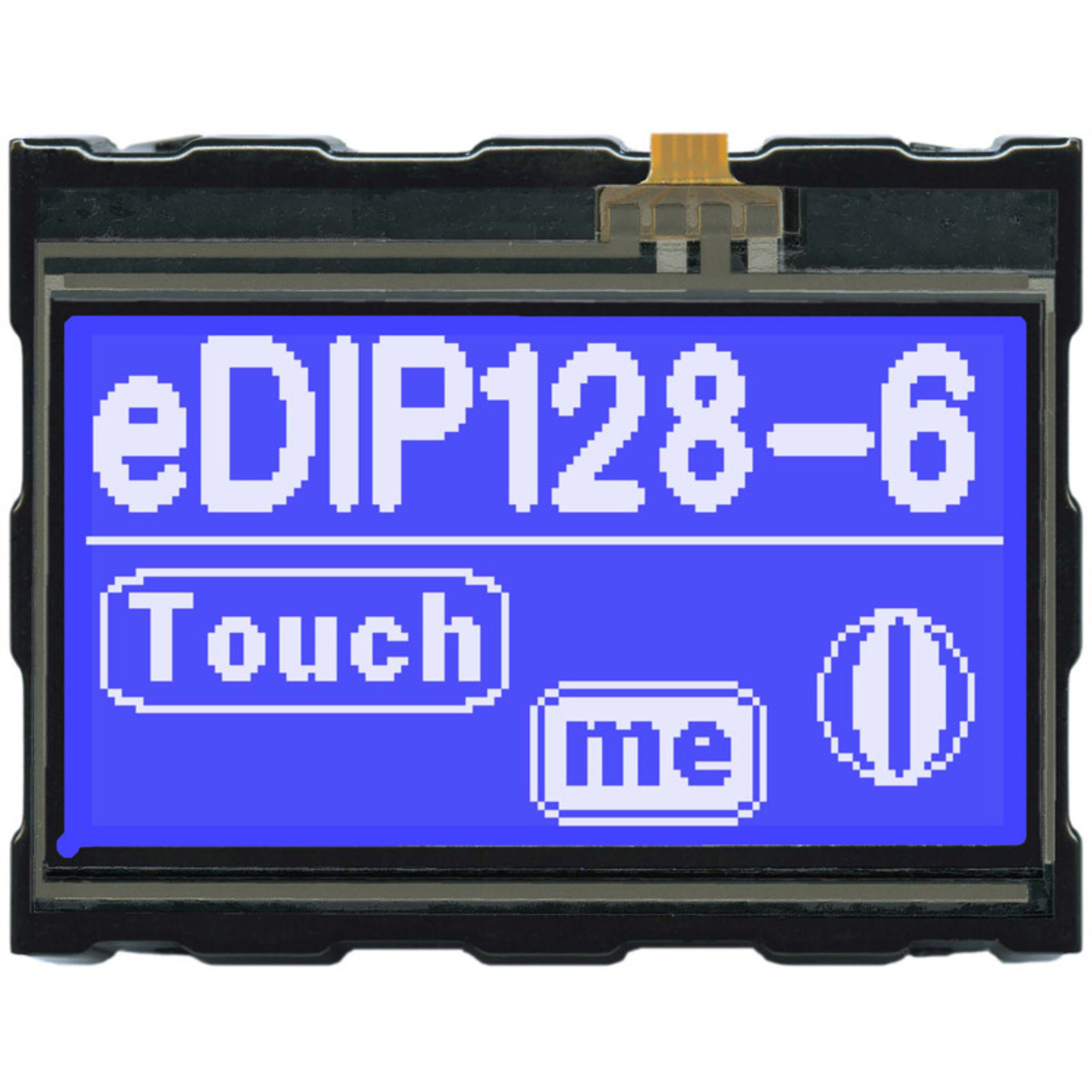 Electronic Assembly LCD-Bedieneinheit mit Touch EA eDIP128B-6LWTP 128x64 Pixel