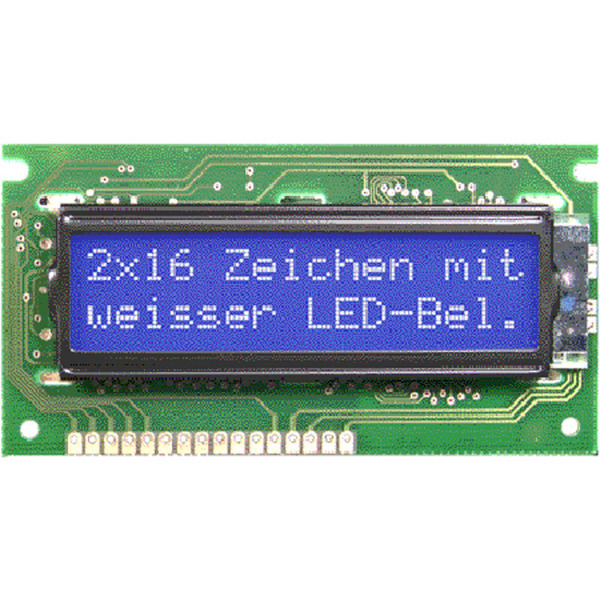 Electronic Assembly LCD-Punktmatrixdisplay EA W162B-NLW 5,56 mm 2x16
