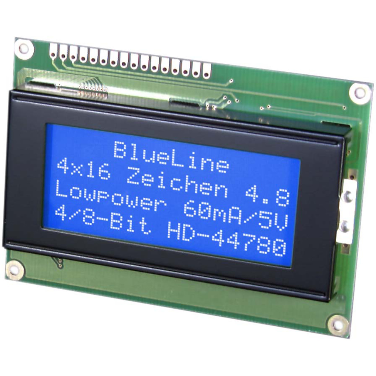 Electronic Assembly LCD-Punktmatrixdisplay EA W164B-NLW 4-75 mm 4x16