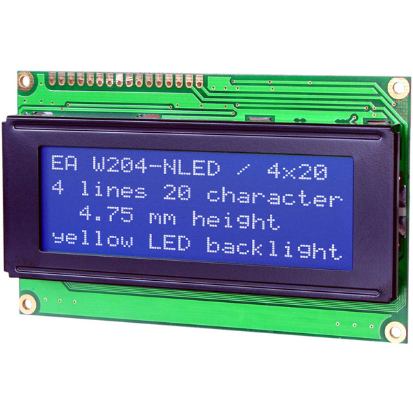 Electronic Assembly LCD-Punktmatrixdisplay EA W204B-NLW 4,75 mm 4x20