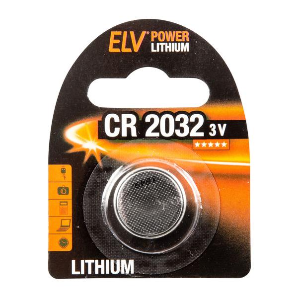 ELV Power Lithium-Knopfzelle CR 2032