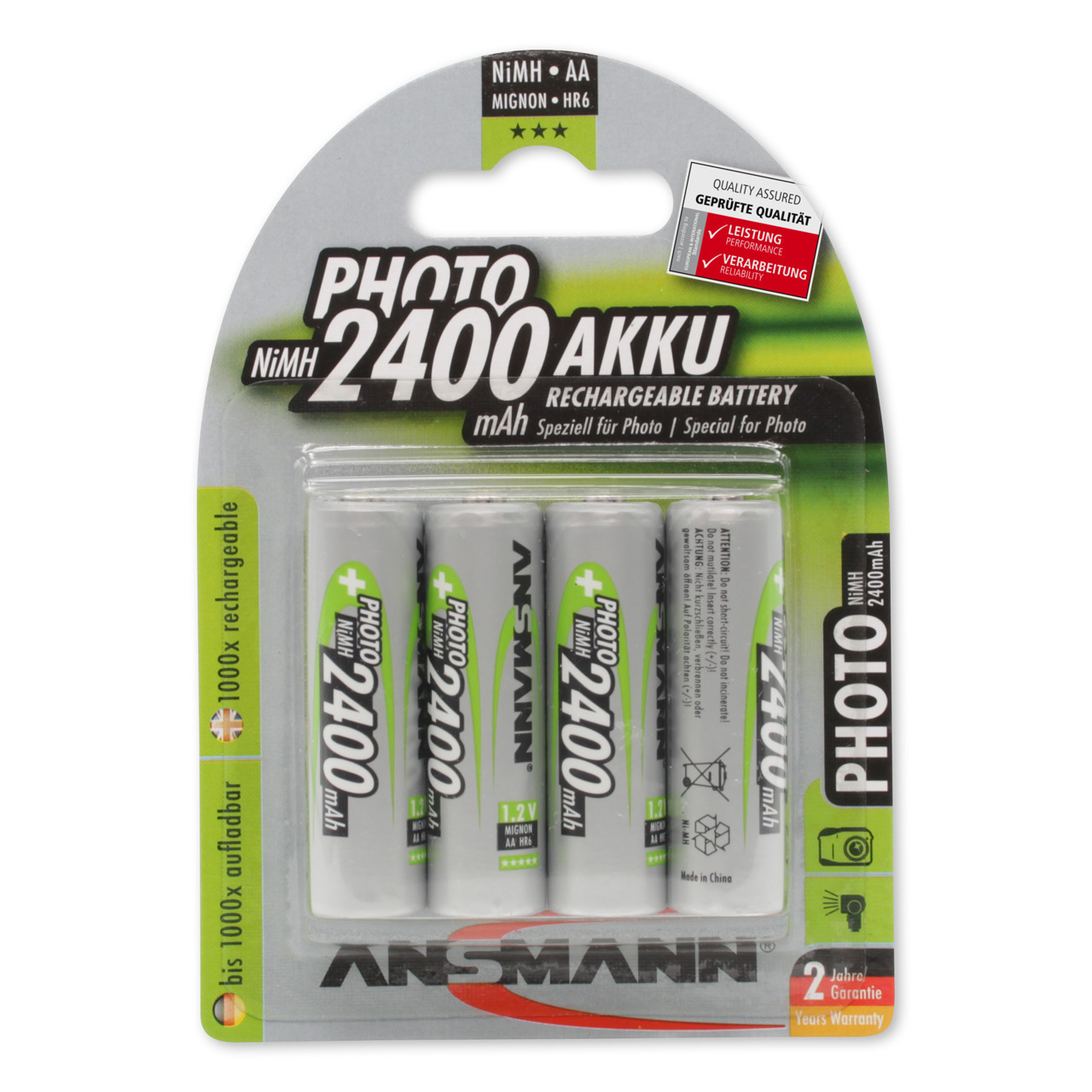 Ansmann NiMH Mignon Akku 2400 mAh Photo- 4er Pack