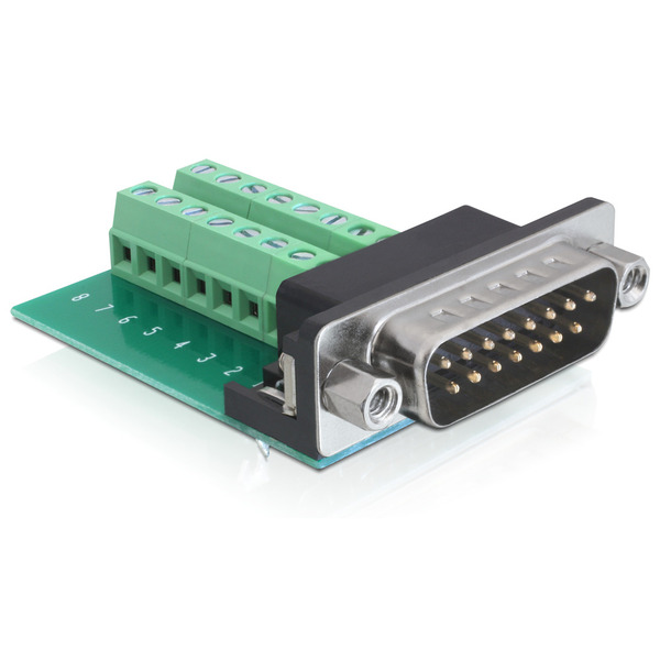 Delock Adapter Terminalblock > Sub-D 15Pin Stecker