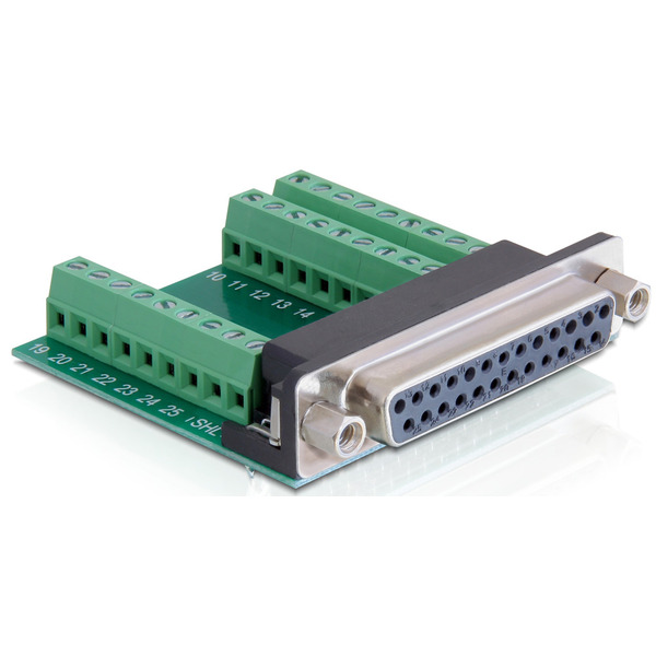 Delock Adapter Terminalblock > Sub-D 25Pin Buchse
