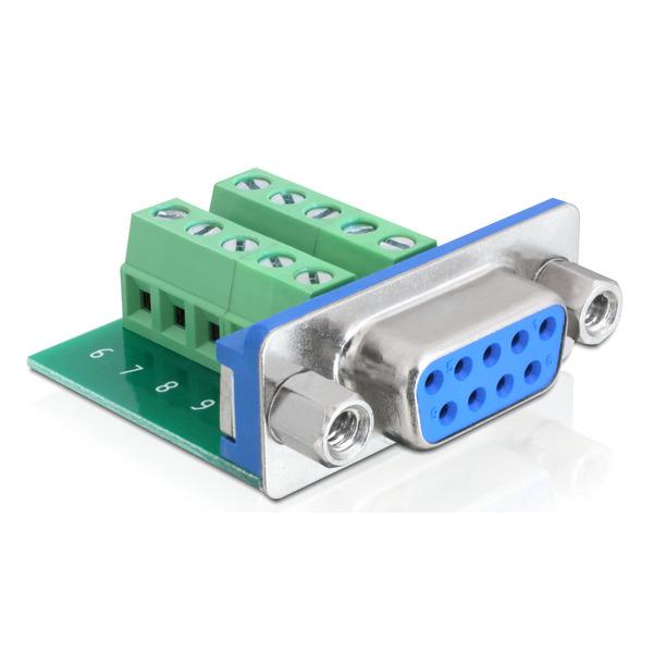 Delock Adapter Terminalblock > Sub-D 9Pin Buchse