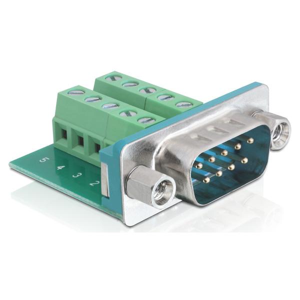 Delock Adapter Terminalblock > Sub-D 9Pin Stecker