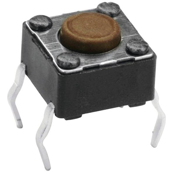 Miniatur-Drucktaster 1x ein, Knopflänge 1,2 mm