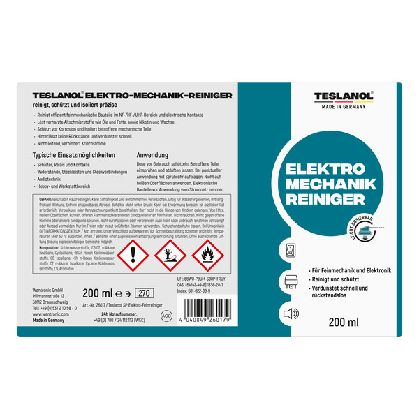 Teslanol Elektro-Feinreiniger, 200 ml