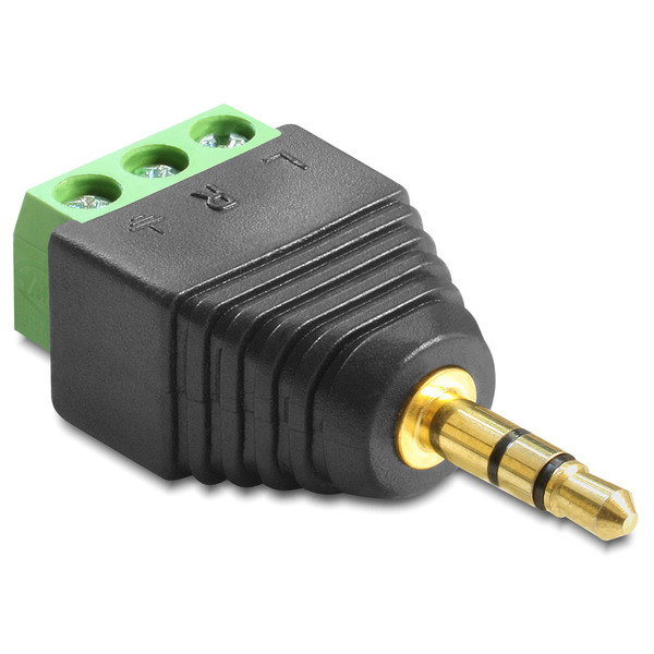 Delock Adapter Terminalblock > Klinke 3,5 mm Stecker 3 Pin