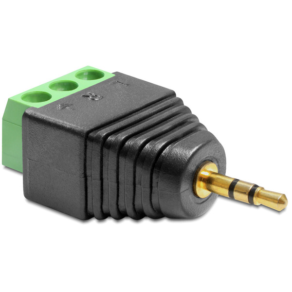 Delock Adapter Terminalblock > Klinke 2,5 mm Stecker 3 Pin