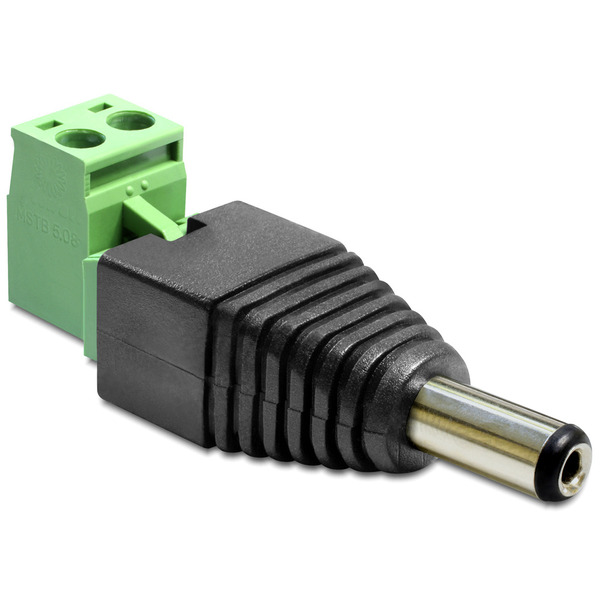 Delock Adapter Terminalblock > DC 2,1 x 5,5 mm Stecker 2-teilig