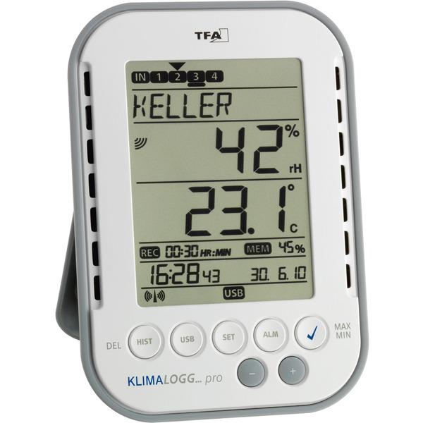 TFA Profi-Thermo-Hygrometer KlimaLogg Pro, mit Datenlogger-Funktion