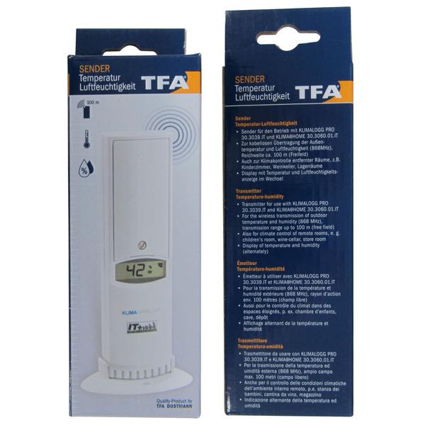 TFA Thermo-Hygrosender für Klimalogg PRO und Klima@Home, mit Displayanzeige