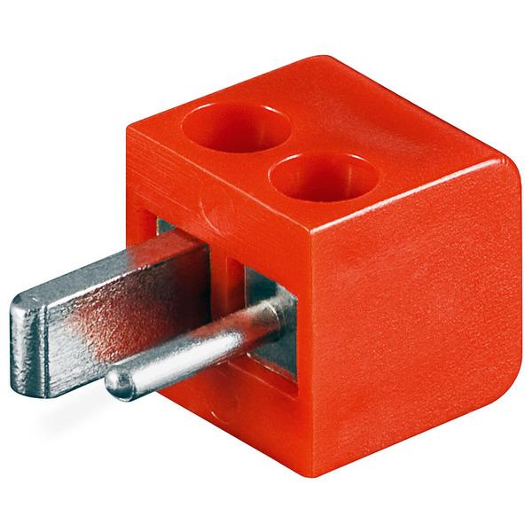 Lautsprecher-Stecker mit Schraubanschluss, rot
