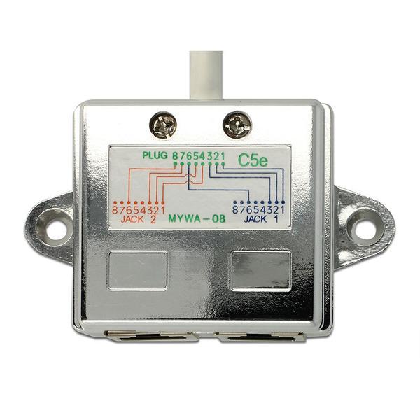 Delock RJ45 Port Doppler 1 x RJ45 Stecker > 2 x RJ45 Buchsen (2 x Ethernet)