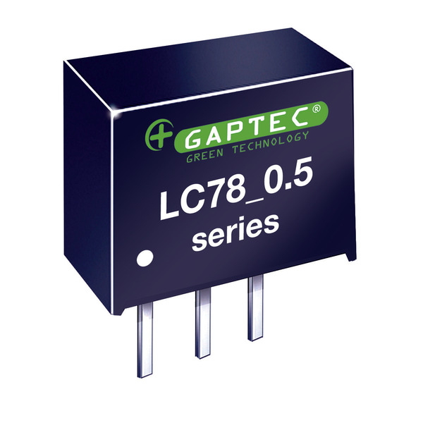 GAPTEC DC-DC-Wandler (Pol) 5 V/0,5 A - Serie LC78_0.5A - Eingangsspannung 6,8 V bis 28 V