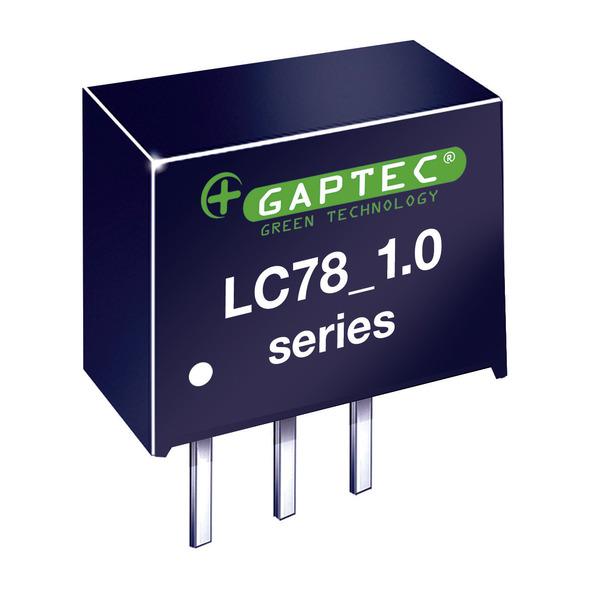 GAPTEC DC-DC-Wandler (Pol) 3,3V / 1,0A - Serie LC78_1.0A - Eingangsspannung 4,5 V bis 42 V