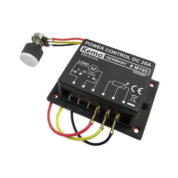 Kemo PWM-Leistungsregler 9–28 V DC, max. 20 A, M195