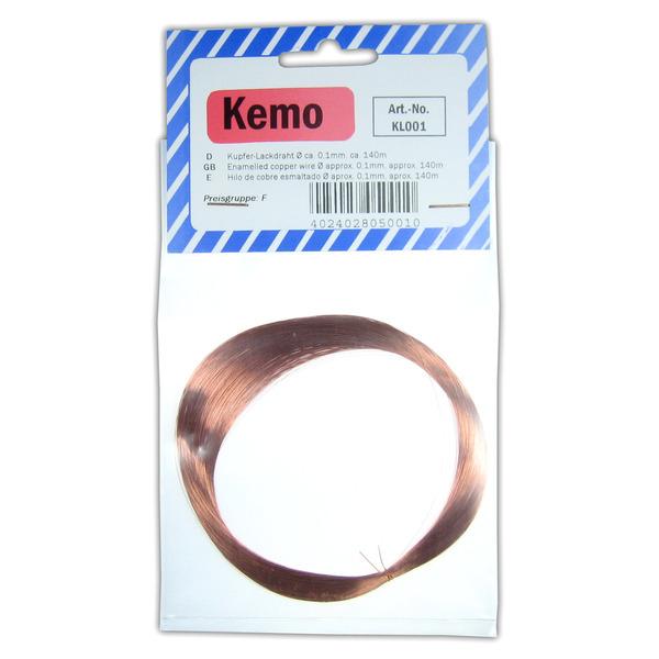 Kemo Kupferlackdraht Ø 0,1 mm, 140 m KL001