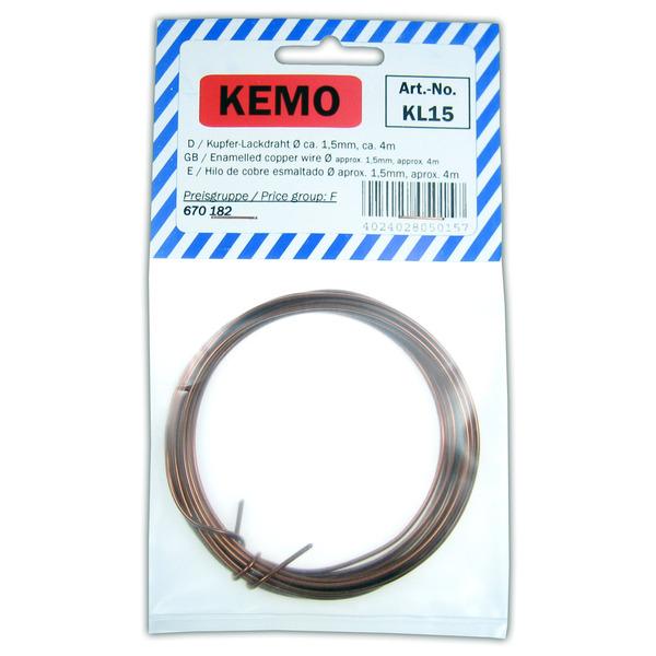 Kemo Kupferlackdraht Ø 1,5 mm, 4 m KL015