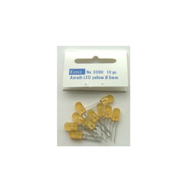 Kemo Anreih-LED 5x2,5 mm gelb ca. 10 Stück S080