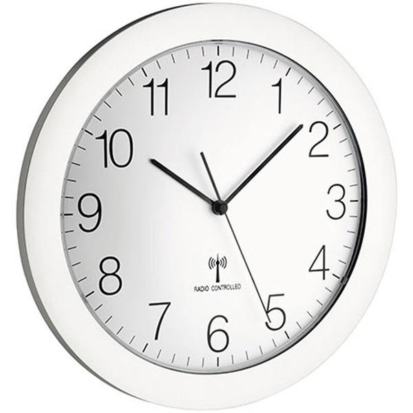 Design-Funk-Wanduhr mit geräuscharmen Sweep-Uhrwerk, Ø 30,2 cm