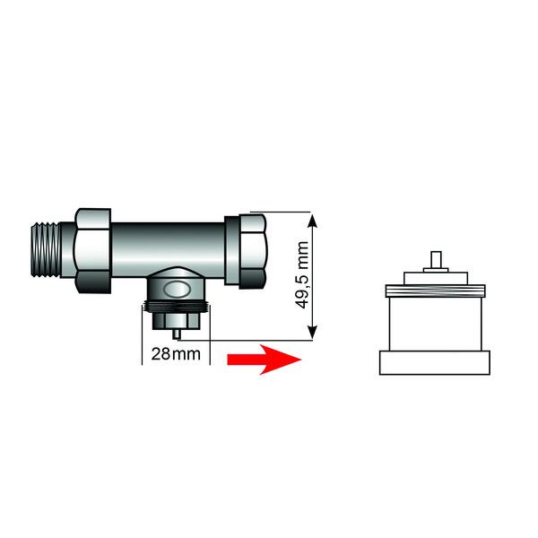 Heizungsventiladapter für Comap M28 x 1,5 (Messing)
