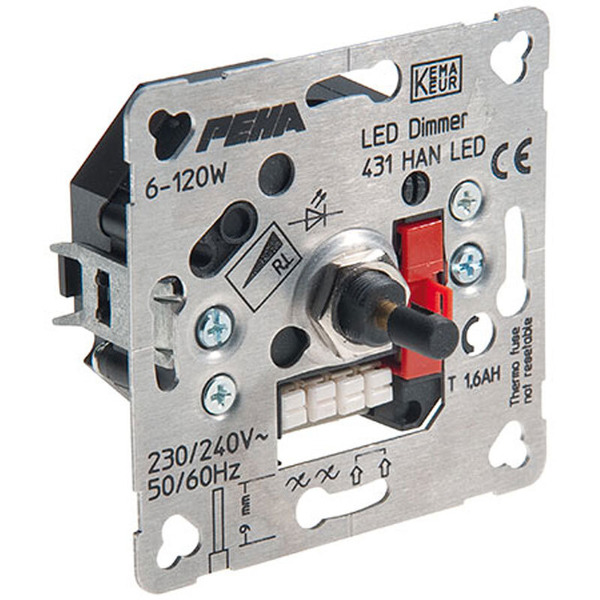 Peha 431 HAN UP-Phasenanschnitt-LED-Drehdimmer 6-60 W