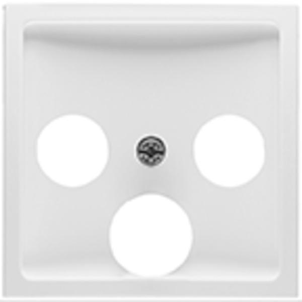 Peha BADORA Zentralplatte für KOAX-Antennensteckdosen, reinweiß