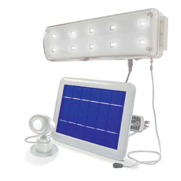 esotec Solar-LED-Lichtsystem mit 90°-Bewegungsmelder