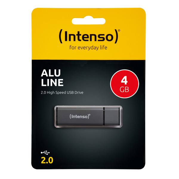 Intenso USB-Stick 4 GB Alu Line, USB 2.0
