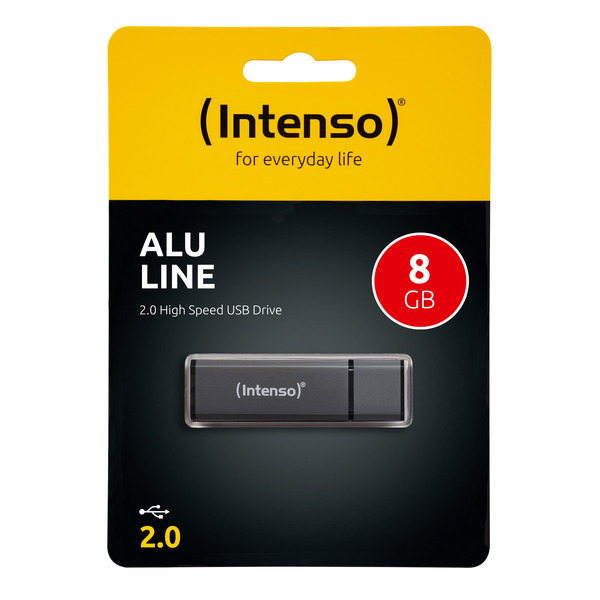 Intenso USB-Stick 8 GB Alu Line, USB 2.0
