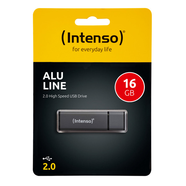 Intenso USB-Stick 16 GB Alu Line, USB 2.0