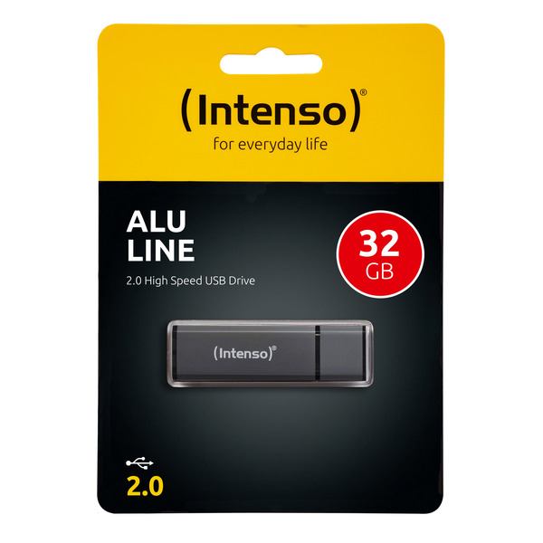 Intenso USB-Stick 32 GB Alu Line, USB 2.0