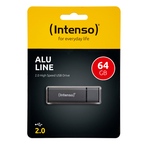 Intenso USB-Stick 64 GB Alu Line, USB 2.0