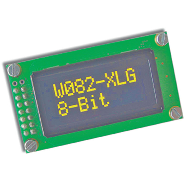 Electronic Assembly OLED-Display EAW082-XLG 2x8, character 5,5 mm, gelb