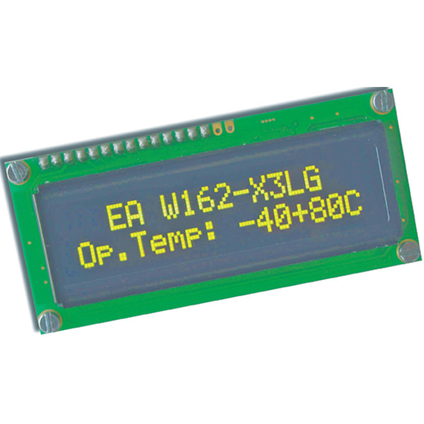 Electronic Assembly OLED-Display EAW162-X3LG 2x16, character 5,5 mm, gelb