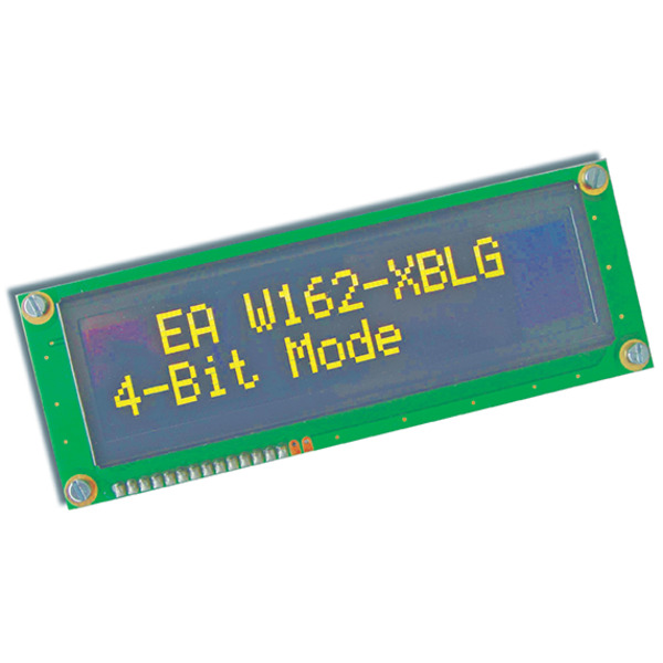 Electronic Assembly OLED-Display EAW162-XBLG 2x16, character 8,9 mm, gelb