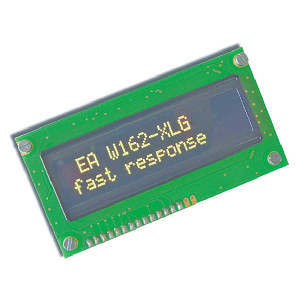 Electronic Assembly OLED-Display EAW162-XLG 2x16, character 5,5 mm, gelb