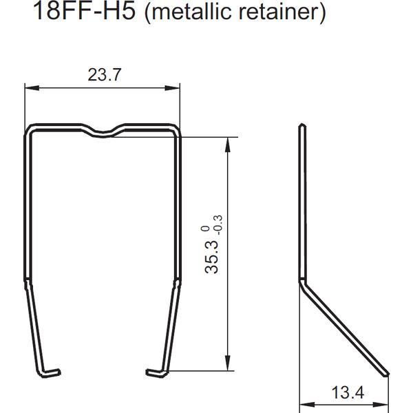 Bügel 18FF-H5 Metal Clip für Relais Sockel HF18FF-4Z-C5