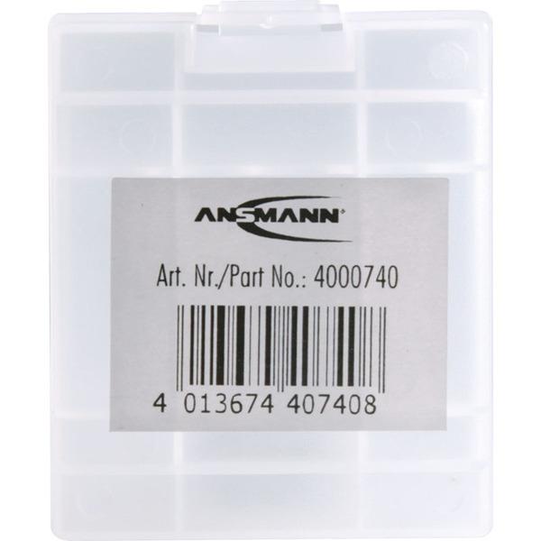 Batterie-/Akku-Box, weiß, für max. 4 Zellen AA/AAA